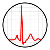 Cardiogram icon. Black and red. EPS 8 — Stock Vector