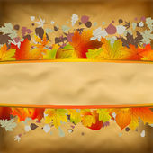 Jesień streszczenie tło na stary papier. plik wektor Eps 8 — Wektor stockowy