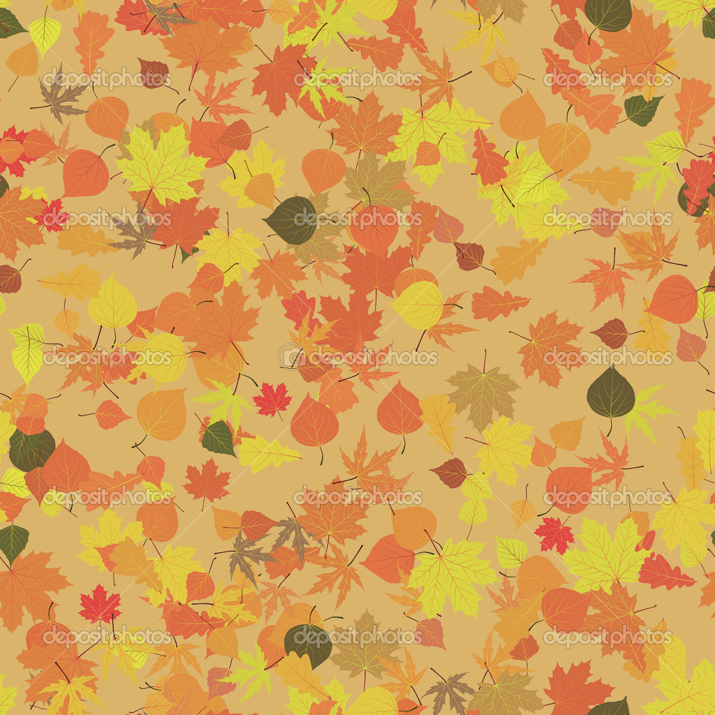 Autumn leaves seamless pattern, element for design. EPS 8 vector file included — Stock Vector #5346663