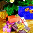Many Christmas gifts — Stock Photo