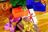Muchos regalos de navidad — Foto de Stock