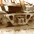 Fragment of an old wagon — Stock Photo