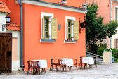 Attractive house in the old city — Stock Photo