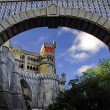 Pena Palace in the arch - Stock Photo