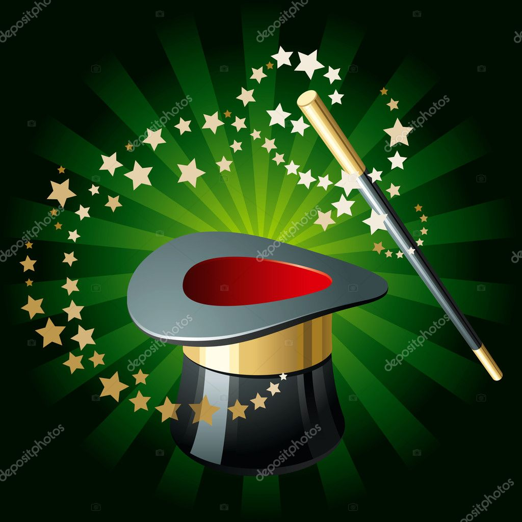 Magic hat and wand stock vector fixer00 4201504 for Static wand