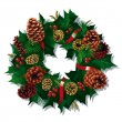 Xmas Wreath — Stock Vector