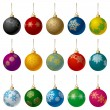 Christmas Balls Set - Stock Vector