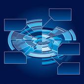 Circle Chart — Stock Vector