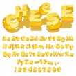 Cheese font - Vettoriali Stock