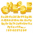 Cheese font - Stockvektor
