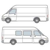 Minibus. Vector Illustration — Stock Vector