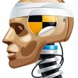 Crash test dummy - Stock Vector