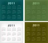 Stor uppsättning 2011 kalendrar. — Stockvektor