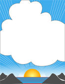 Vector illustration of idyllic sunny nature — Stock Vector