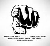 Een hand die wijzen op de kijker — Vector de stock