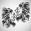 Lví řev — Stock vektor