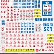 The big collection of auto signs - Imagens vectoriais em stock