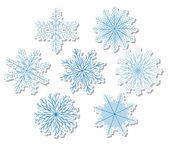 Snöflingor — Stockvektor