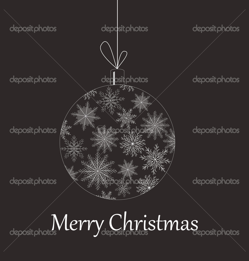 Christmas baubles variants color vector illustration element for design — Imagen vectorial #4343603