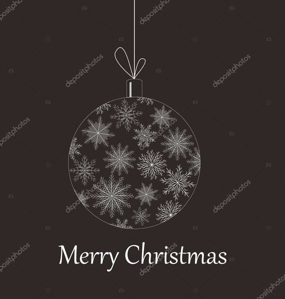 Christmas baubles variants color vector illustration element for design — Stockvectorbeeld #4343603
