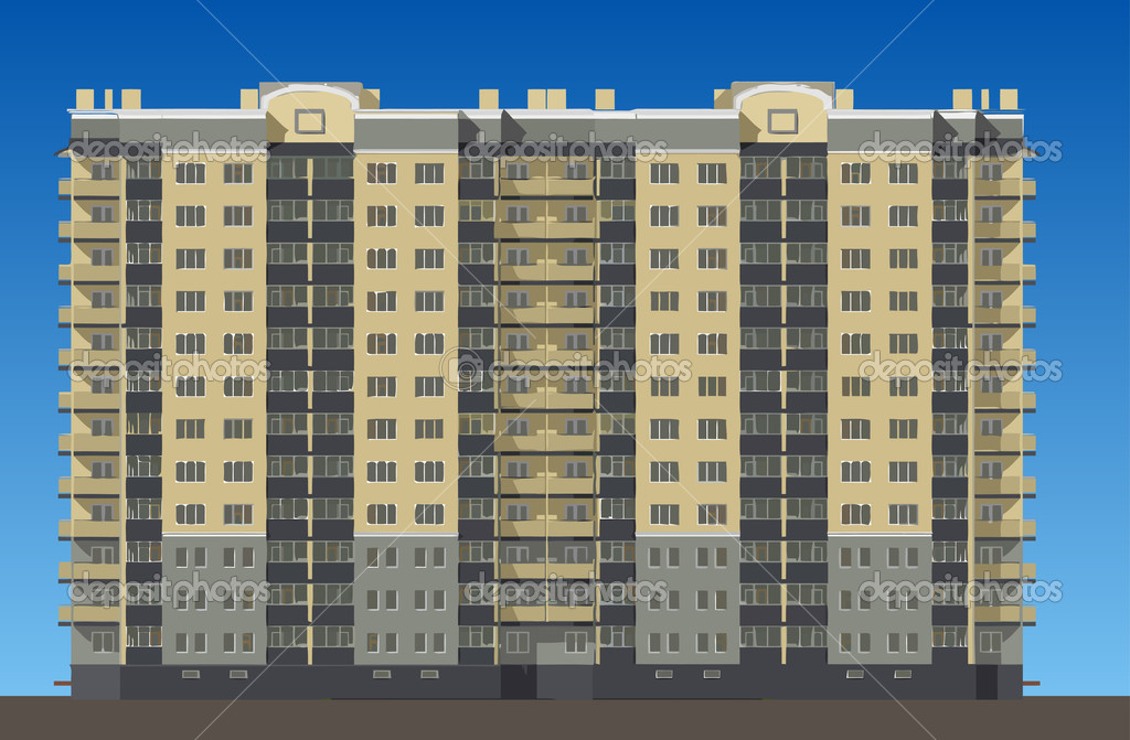 New buildings in  new big district of big city  Stock Vector #4343670