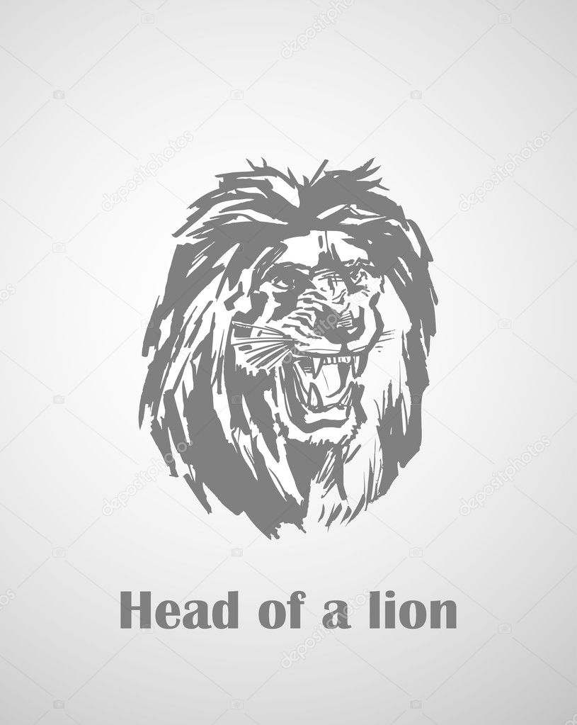 Abstract Lion In The Form Of A Tattoo — Stock Vector #4412131