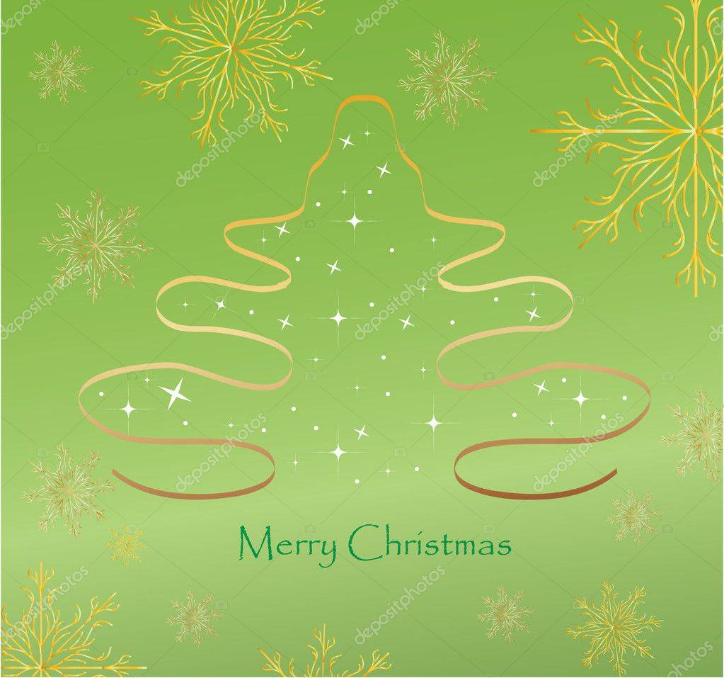 Christmas Tree Vector background illustration — Stock Vector #4420875