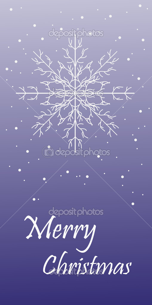 Blue grunge christmas background with frame of snowflakes vector illustration — Stock Vector #4420877
