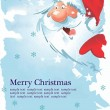 Royalty-Free Stock Imagen vectorial: Christmas  Santa Claus With Card