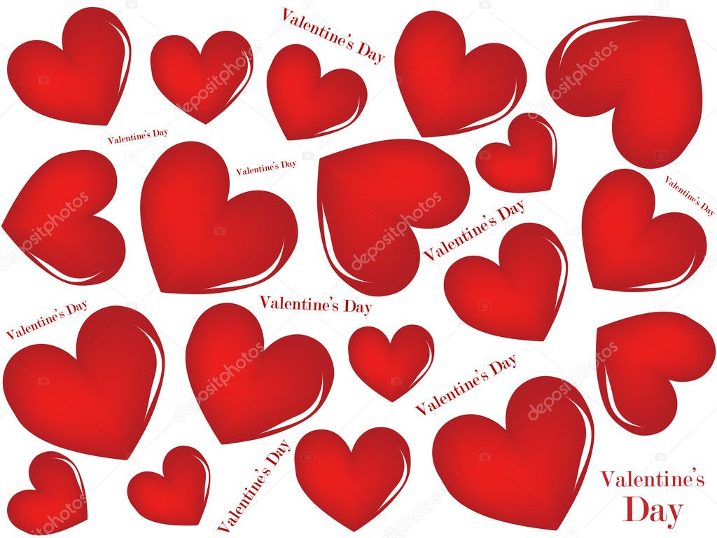A valentines background. Vector illustration. — Vettoriali Stock  #4625150