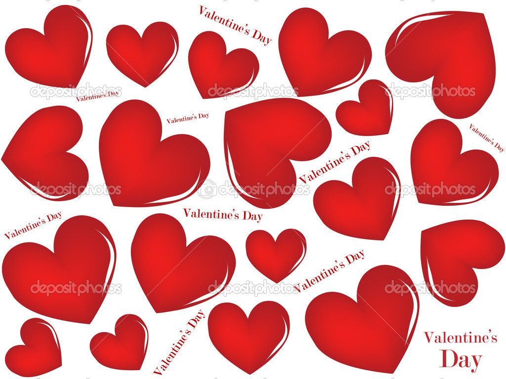 A valentines background. Vector illustration. — 图库矢量图片 #4625150