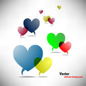 Vector background with hearts Illustration — Stock Vector
