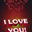 I Love You. Vector illustration — Stock Vector #4643993