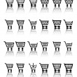 Shopping Cart Icon / Icons - Stock Vector