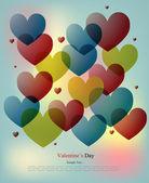 Multi-coloured Hearts — Stock Vector