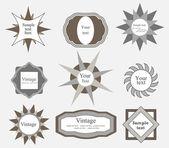 Ensemble de label design rétro. — Vecteur