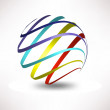 Abstract 3D Sphere - Stock Vector