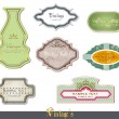 Vintage labels set vector illustration — Vector de stock