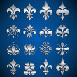 Royalty-Free Stock Vector Image: Silver Floral Design Elements.