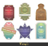 Set of vintage labels, scalable and editable vector illustrations; — Vetorial Stock