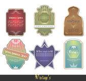 Set vintage etiketten, schaalbare en bewerkbare vectorillustraties; — Stockvector