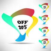 Percent discount — Stock Vector