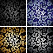 Patrón de papel tapiz transparente. ilustración vectorial — Vector de stock