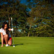 Golf flicka — Stockfoto