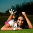 Royalty-Free Stock Photo: Golf girl