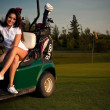 ragazza di golf — Foto Stock #4112435
