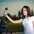 Golf girl — Stock fotografie #4112531