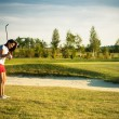 Golf girl - Stock Photo