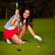 Golf girl — Stockfoto #4112713