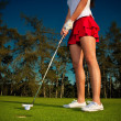 Golf girl — Stockfoto